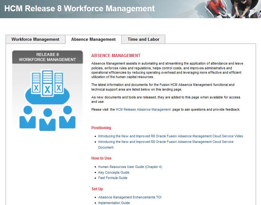 Workforce Management Release 8: Absence Management      Posts (482